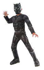 Boy's Deluxe Black Panther Fancy Dress Costume
