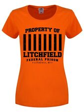 Property Of Litchfield Federal Prison Women's Orange T-shirt