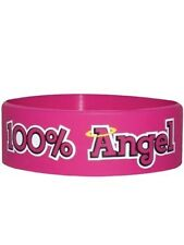 100% Angel Pink Rubber Wristband - NEW & OFFICIAL