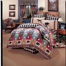 The Woods Moose & Bear Bedding Comforter Set or Bed in Bag with Sheets ~ 4 Sizes