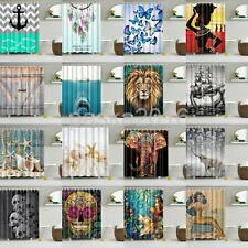 Waterproof Fabric Bathroom Shower Sheer Liner Curtain Panel Decor With Ring Hook