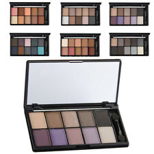 Hotsale 10 Colors Pigment Matte Shimmer Eyeshadow Palette Makeup Eye Shadow Set