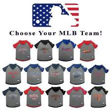 MLB Baseball Dog Hoodie T-Shirt * PICK YOUR TEAM * Sports Fan Tee Pet Puppy Gear