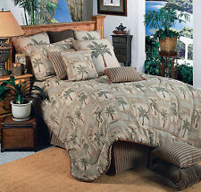 Palm Grove Tropical Palm Tree Comforter Bed Set~Twin Full Queen King or Cal King