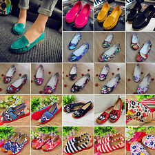 NEW Women's Flat Ballerina Ballet Dolly Loafers Casual Flats Slip On Pumps Shoes