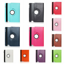 Leather Plain 360 Degrees Rotating Case Cover Stand for Apple iPad 5/Air #YQ
