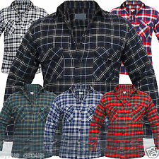 MENS FLANNEL LUMBERJACK CHECK SHIRT COTTON WORK SHIRTS VINTAGE TARTAN SCOTTISH