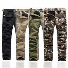Combat Mens Cotton Cargo Army Thick Pants Military Camouflage Camo Work Trousers