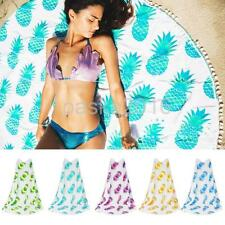 Beach Tapestry Bohemian Blue Pineapple Throw Roundie Yoga Shawl Towel 5 Colors