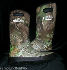 Boy's Youth Realtree Camo Hunting Swamp Rain Muck Boots Mud Waterproof Rubber
