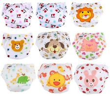 5PC printing Adjustable Reusable Lot Baby Washable Cloth Diaper Nappies+5 insert