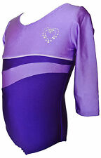 TALENT TALE GIRLS DANCE/ GYMNASTIC 3/4 Sleeve Leotard with Rhinestone