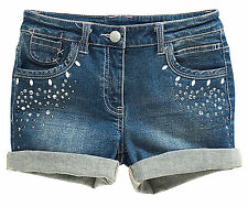 ВNWT NEXT Outfit • Authentic Denim Shorts & Glitter Tights Set • Cotton •7 Years