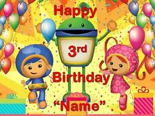 TEAM UMIZOOMI PARTY ! Edible Cake Topper  Frosting Sheet - quarter & half size