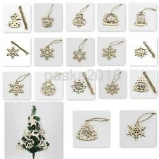 5Pcs Wood Hanging Festival Party Ornament Christmas Wedding Decor Tag 6 Sizes
