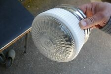 VTG MID CENTURY MODERN CHROME & GLASS CEILING LIGHT FIXTURE 7.75""