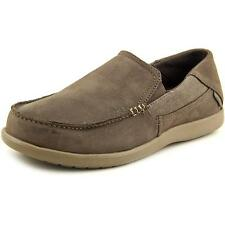 Crocs Santa Cruz   Round Toe Leather  Loafer NWOB