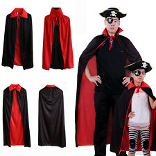 Kids/Adults Balck & Red Halloween Party Props Party Cosplay Costume  Cape 2 type