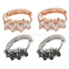 Fashion Accessories Stud Earings Round Rhinestone Crystal Hoop Earrings Jewelry