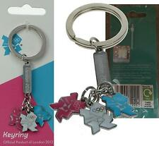 Official London 2012 Olympic Games Team GB 3 Coloured Charms Key Ring Chain