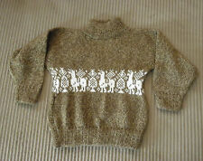 New From Peru 100% Alpaca Sweater for Toddler Boys Size 6 - 9  Months #82035
