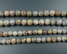 natural gray stone jasper beads round loose gemstone beads strand 8mm 10mm 15''