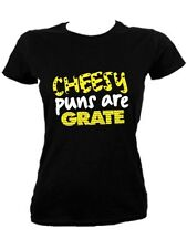 New Cheesy Puns Are Grate Ladies Black T-Shirt