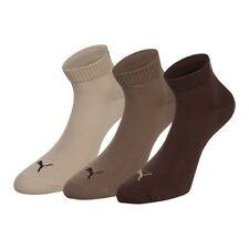PUMA Trainer socks 3-Pack Quarters Choco / Nut / Safari