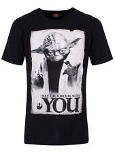 Star Wars Yoda May The Force Be With You Men's Black T-Shirt - NEW & OFFICIAL