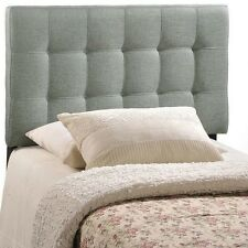 NEW Twin Full Queen King Upholstered Headboard Wall Mounted Bed Tufted Gray Grey