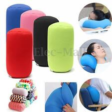 Home Car Seat Head Rest Neck Support Mini Microbead Cushion Roll Pillow 30x16cm