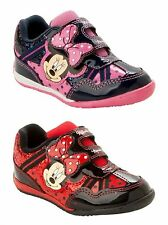 GIRLS OFFICIAL DISNEY MINNIE MOUSE GLITTER CASUAL TRAINERS SHOES UK SIZE 6-12
