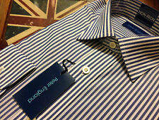 "Peter England Formal Shirt, Size 16"", Cotton Blend,Blue & White Stripe, BNWT"