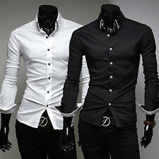 New Arrival Men's Long Sleeve Turn Down Collar Casual Slim Fit Shirt Marketable