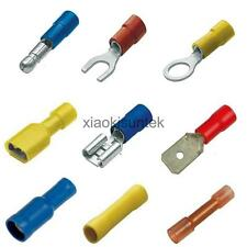 Insulated Crimp Terminals Spade Butt Fork Bullet Electrical Connectors Assorted