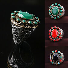 Bohemian Vintage Finger Rings Retro Resin Carving Pattern Ring Jewelry Top Sale