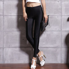 Women Lady Sexy Shiny Stretch Leggings Bright Fluorescent Elastic Pants Skinny
