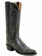 Lucchese HL4515 Womens Grey Stonewash Mad Dog Goat Leather Western Cowboy Boots