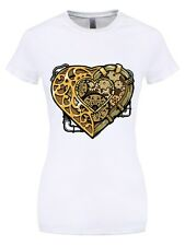 Steampunk Heart Women's White T-shirt
