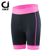 Pink Black Cheji Womens Bike Cycling Shorts Padded Bicycle Tights Short S-XXL