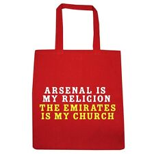 Arsenal Is My Religion Red Tote Bag