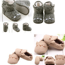 Toddler Crib Shoes Baby Infant Child Boys Girls Warm Snow Boots Fur Winter 0-1 Y