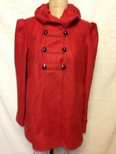 French Connection Lark Wool Coat L? Red  New w/Defect