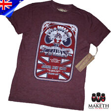 New Roots of Rock The Who T-Shirt Cotton T Shirt  Short Sleeve Red Marrone