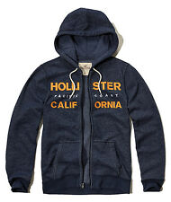 Nwt Hollister By Abercrombie & Fitch Men Full Zip and Pullover Hoodie Navy