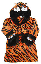 TIGER  novelty Embroidered Personalised Baby Dressing Gown Bath Robe christmas