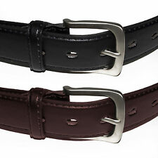 New Mens Leather Travel Money Belts (Pack of 2) Black Brown USA Seller