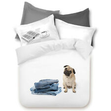 Photoreal Good Dog Pug Contemporary Single Double Queen King Quilt Cover Set