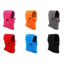 6in1 Thermal Fleece Balaclava Neck Gaiter Warmer Face Mask Snood Camping Hat Cap