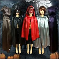 Child Cape Hooded Cloak Vampire Kids Witchcraft Costume Halloween Fancy Dress